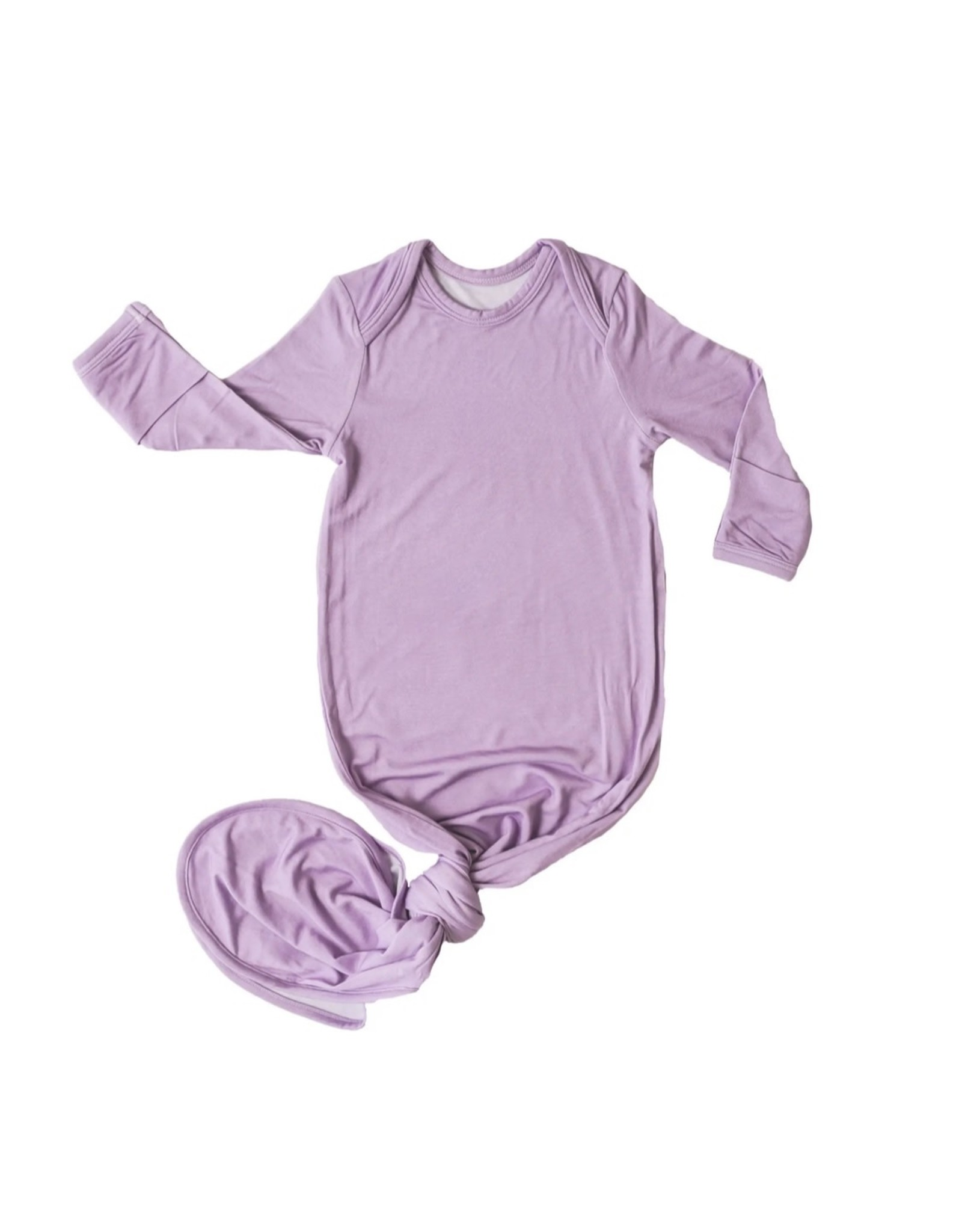 Little Sleepies Little Sleepies- Wisteria Bamboo Viscose Knotted Gown
