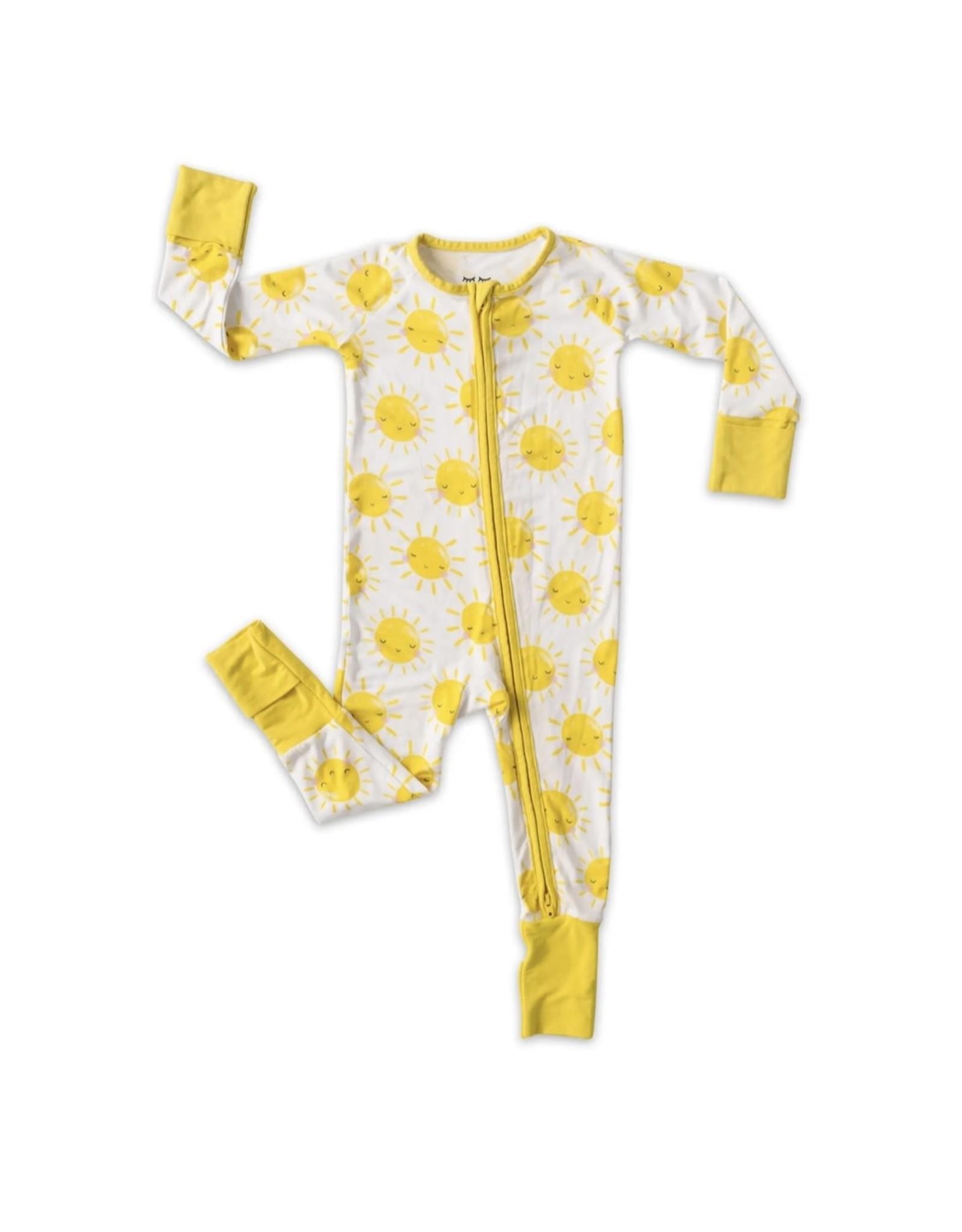 Little Sleepies Little Sleepies- Grow With Me Bamboo Viscose Zip Romper Gift Set: Pink