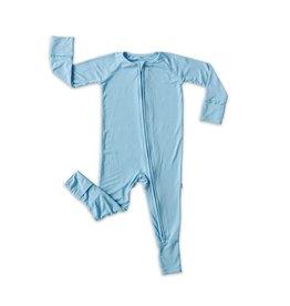 Little Sleepies Little Sleepies- Grow With Me Bamboo Viscose Zip Romper Gift Set: Blue