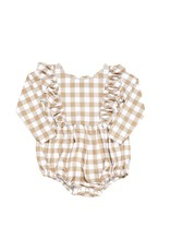 Be Girl Clothing Be Girl- Playset Bubble Romper: Maple Check