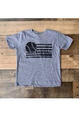 Baseball Flag TShirt: Grey