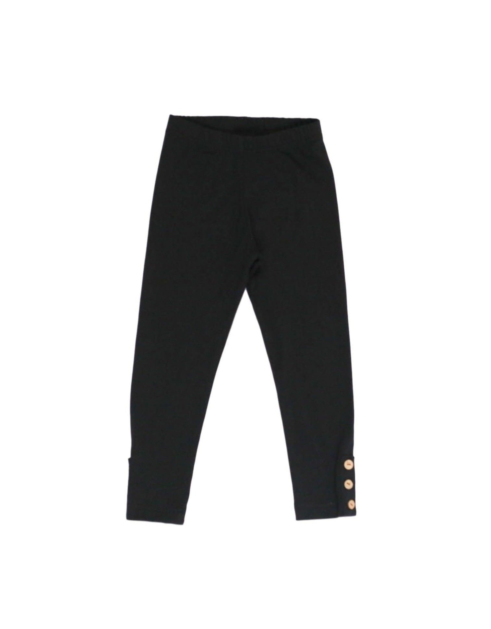 Be Girl Clothing Be Girl- Classic Button Leggings: Black Expresso