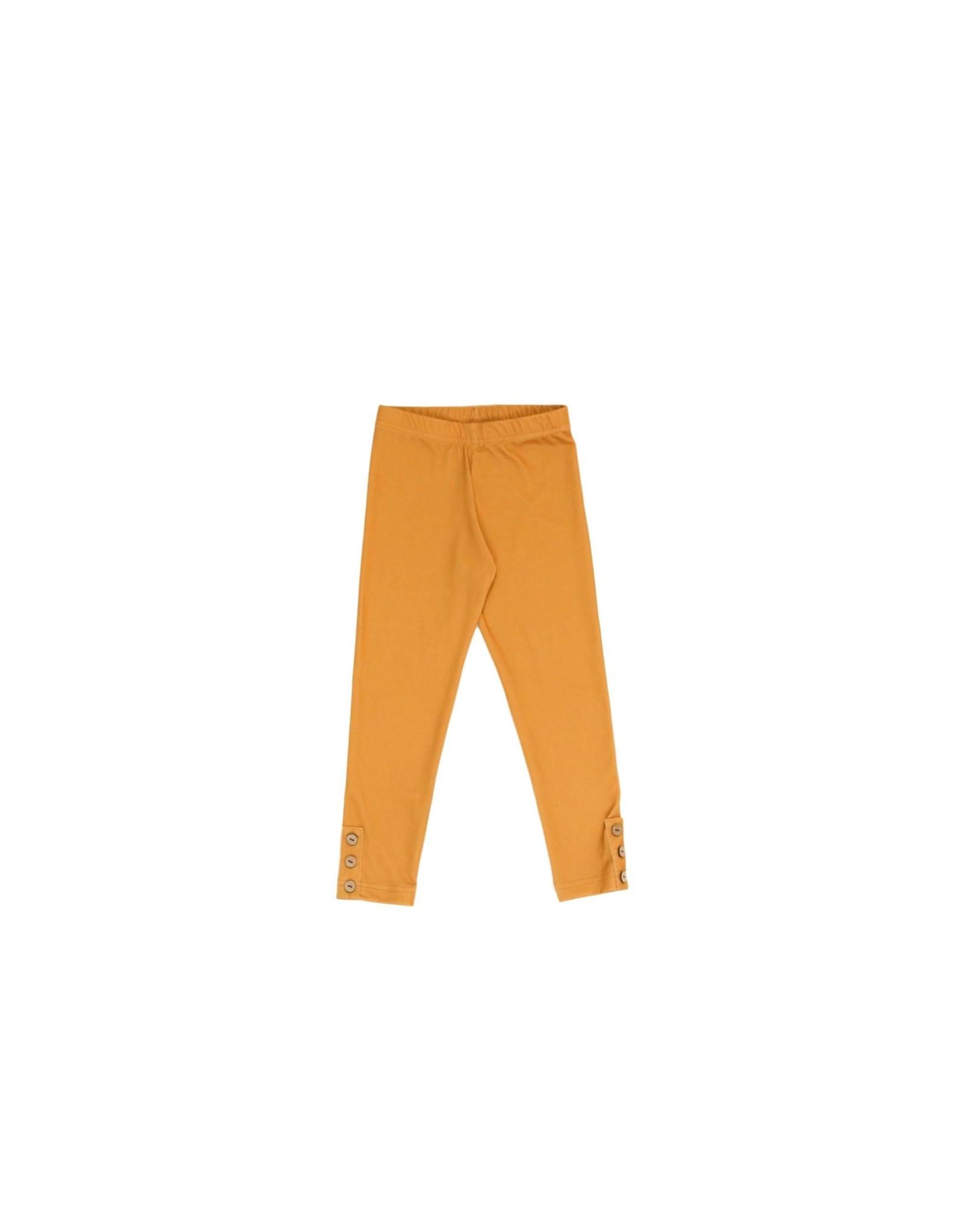 Be Girl Clothing Be Girl- Classic Button Leggings: Honey Mustard