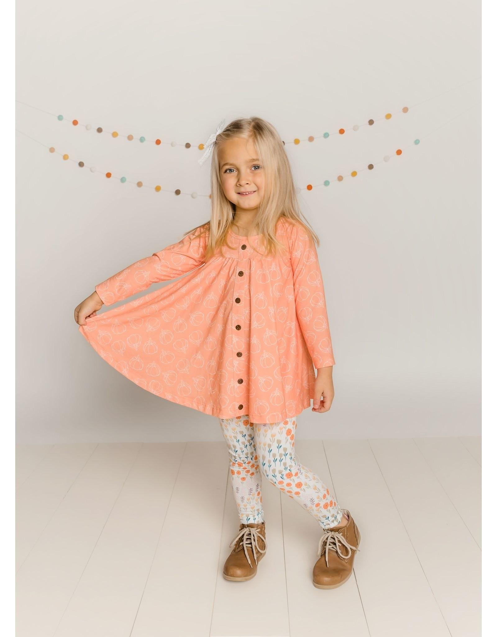 Be Girl Clothing Be Girl- Trapeze Tunic Set: Pumpkin Pie