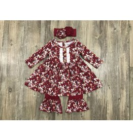Serendipity Serendipity- Crimson Floral Dress Longall