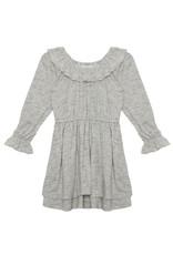 Mabel & Honey Mabel & Honey - Gray Ruffle Knit Dress