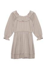 Mabel & Honey Mabel & Honey -Cream Stripe Ruffle Knit Dress