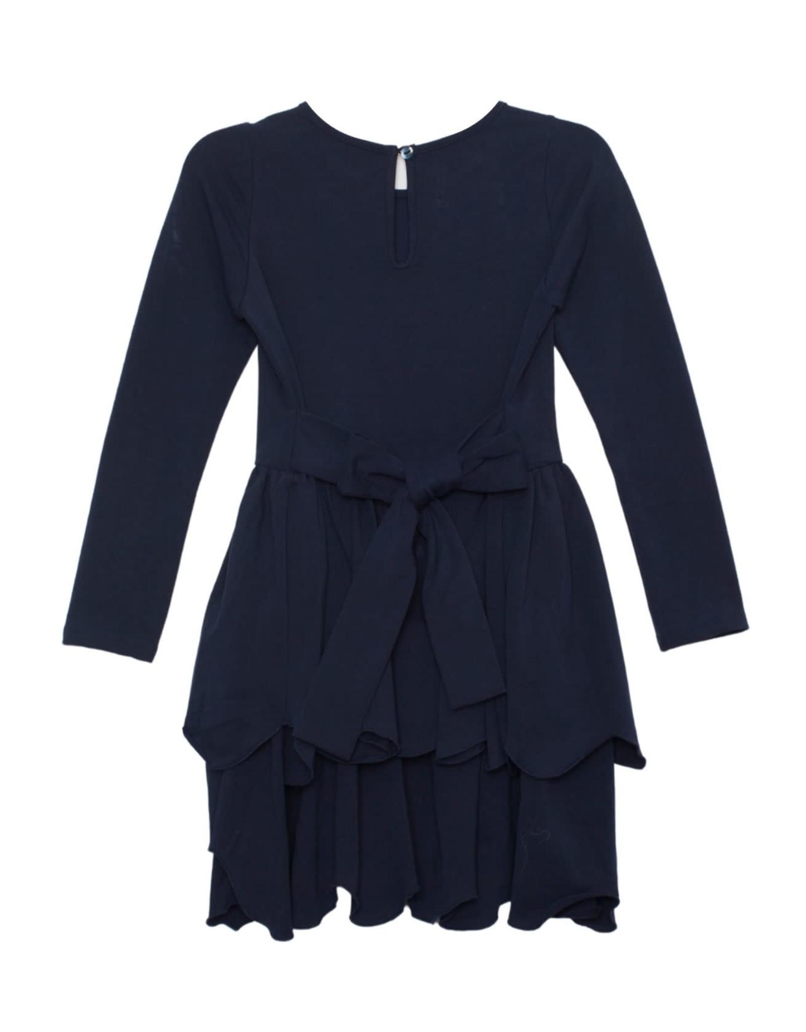 Mabel & Honey Mabel & Honey- Navy Knit LS Dress