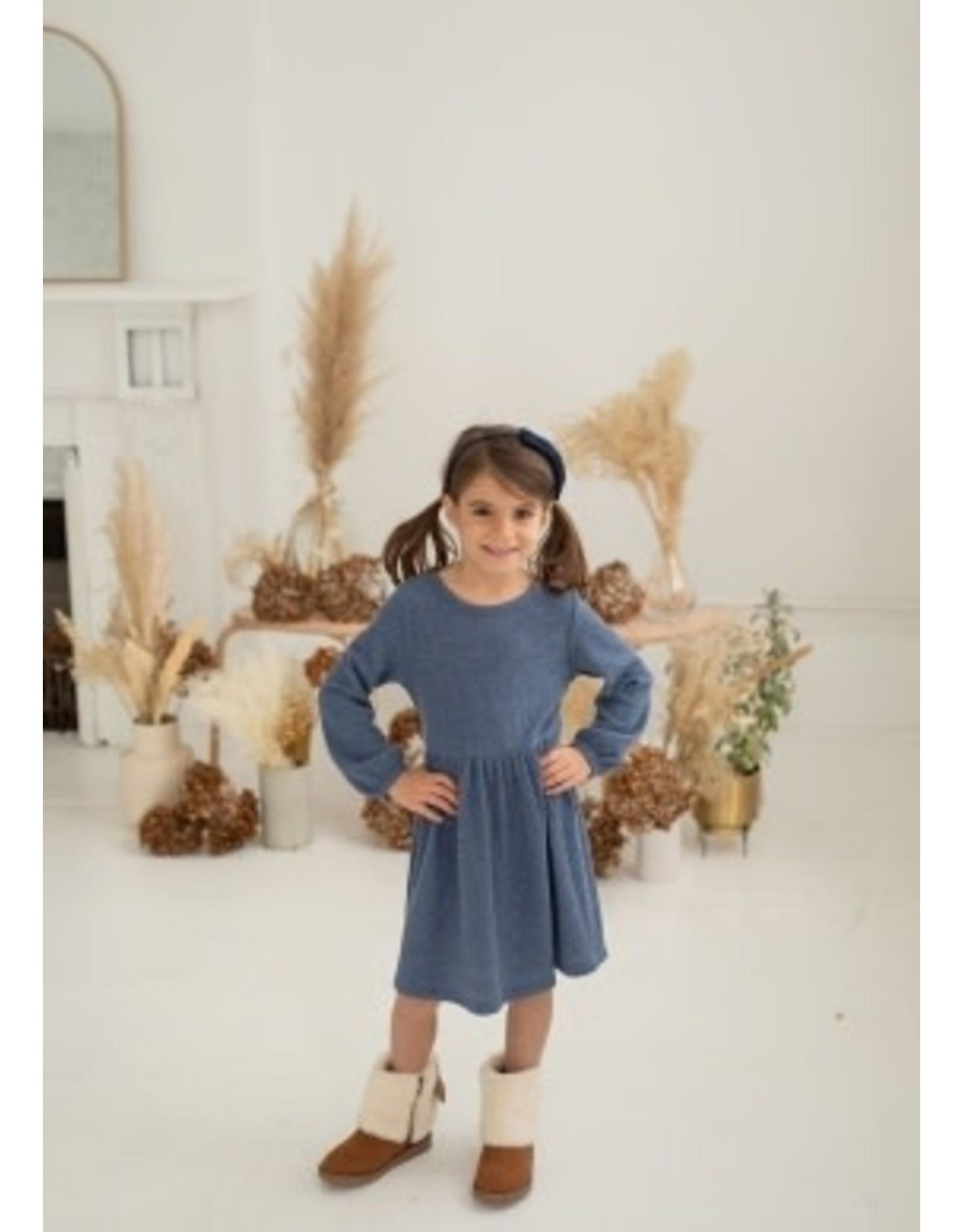Mabel & Honey Mabel & Honey- Wispering Winds Knit Dress: Blue