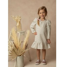 Mabel & Honey Mabel & Honey- Cookies & Cream Stripe Drop Waist Dress