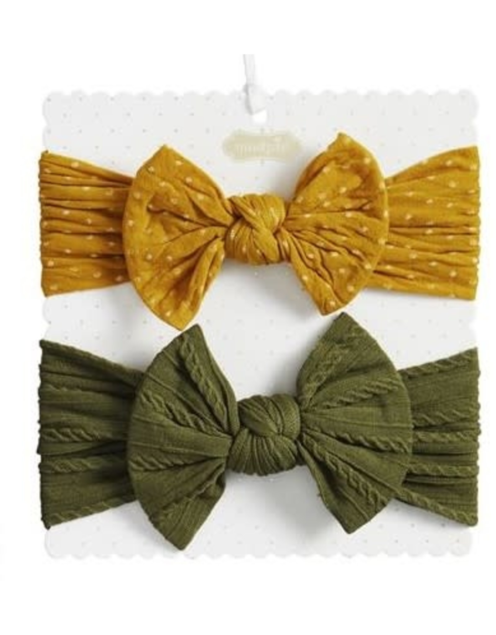 Mudpie Mud Pie- Yellow & Green Bow Set