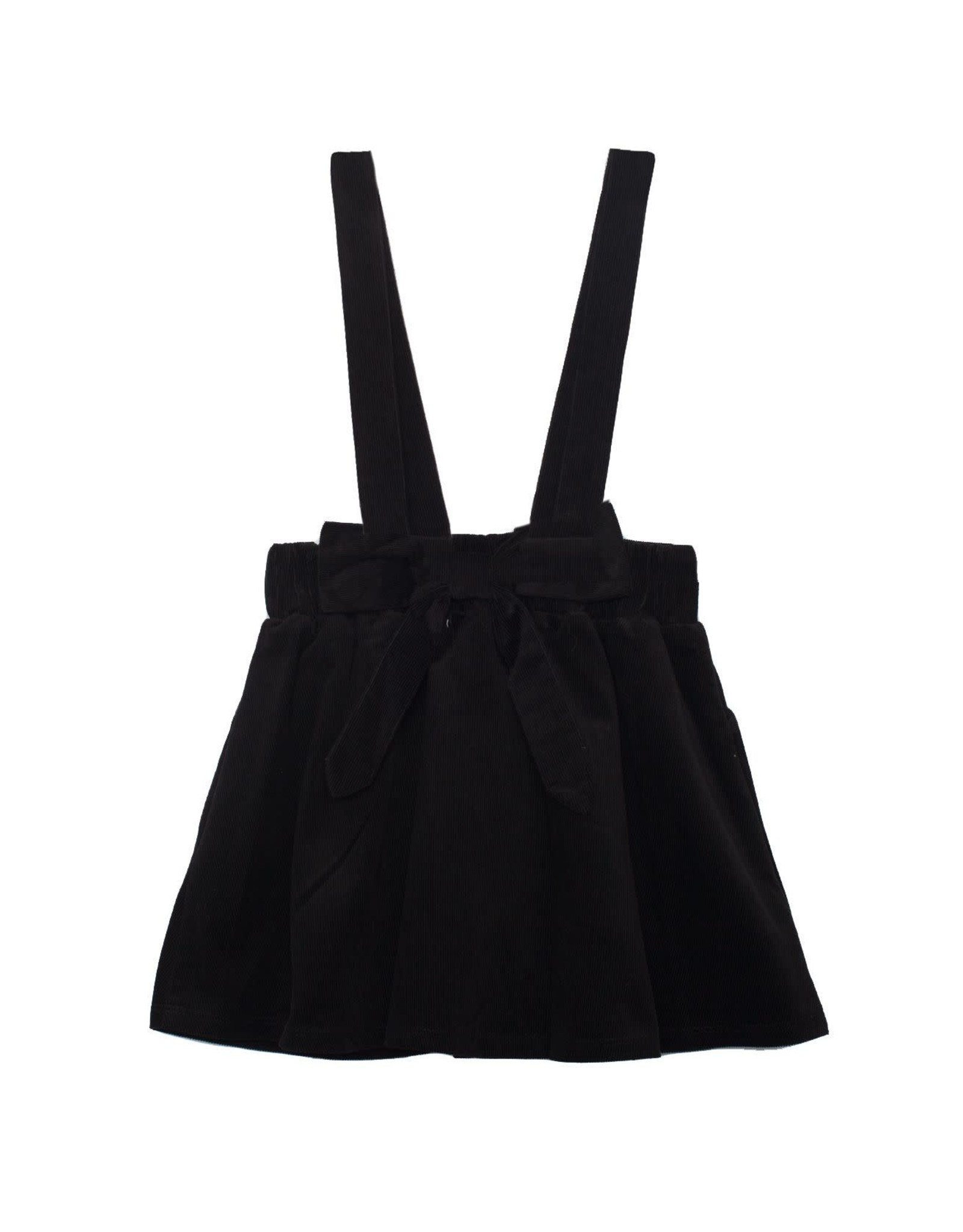 Mabel & Honey Mabel & Honey- Corduroy Jumper Skirt: Black