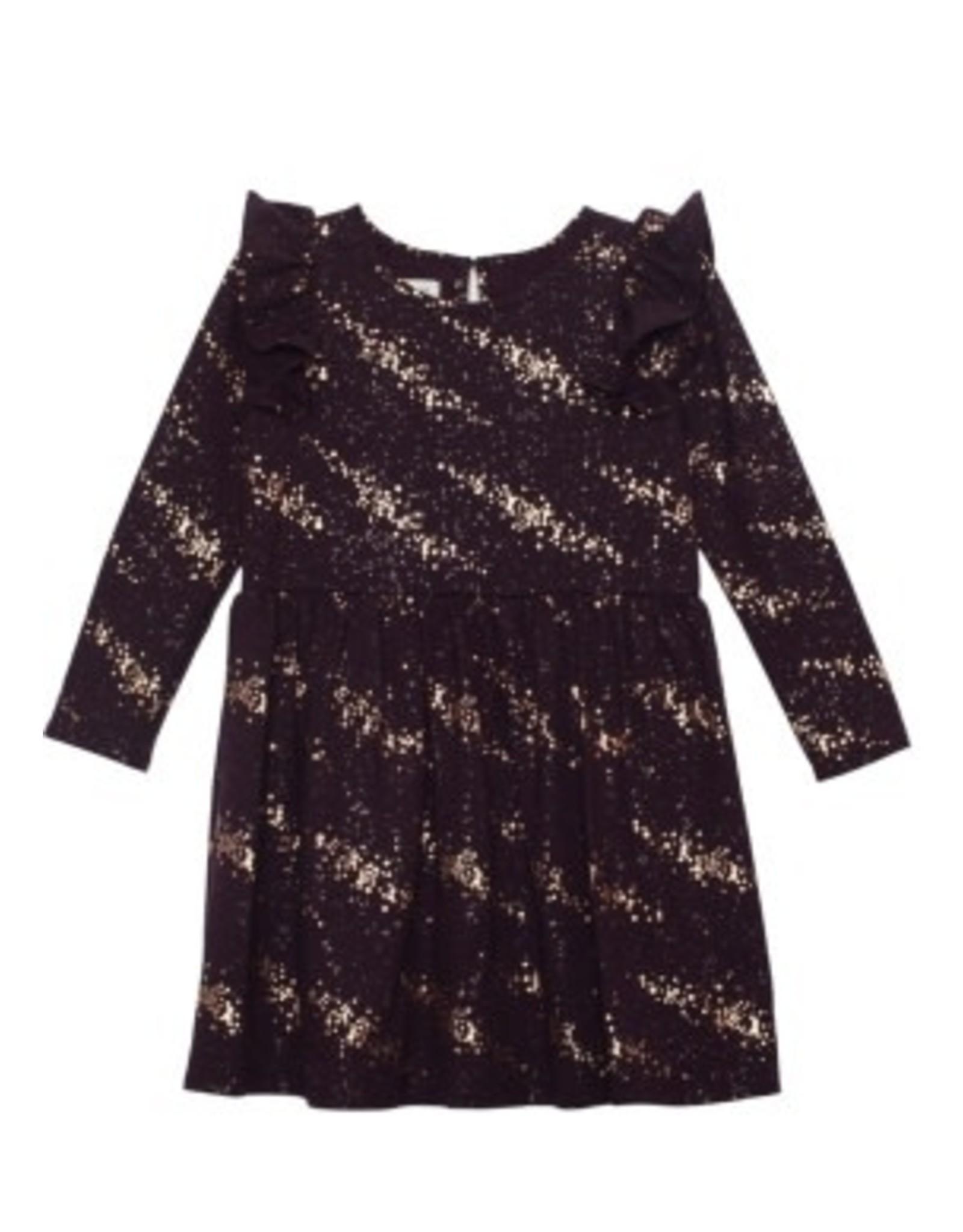 Isobella & Chloe Isobella & Chloe- Galaxy Knit Dress: Purple