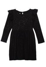 Isobella & Chloe Isobella & Chloe- Sparkly Knit Dress: Black