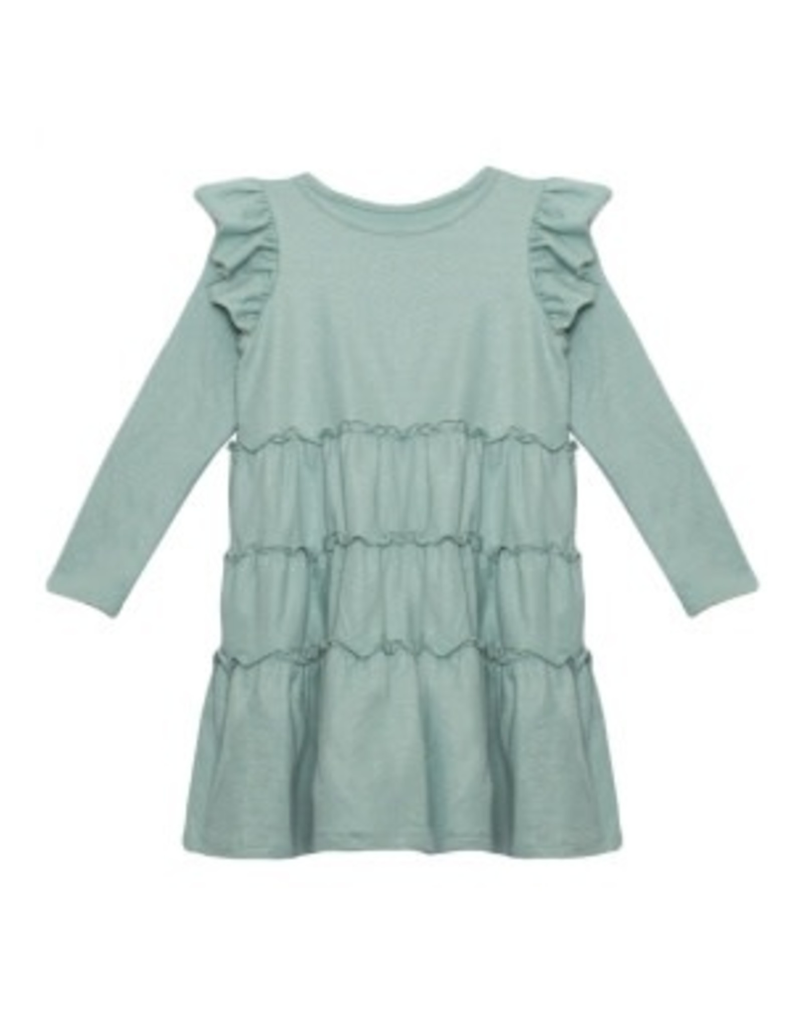 Mabel & Honey Mabel & Honey- LS Sparkling Turquoise Knit Dress