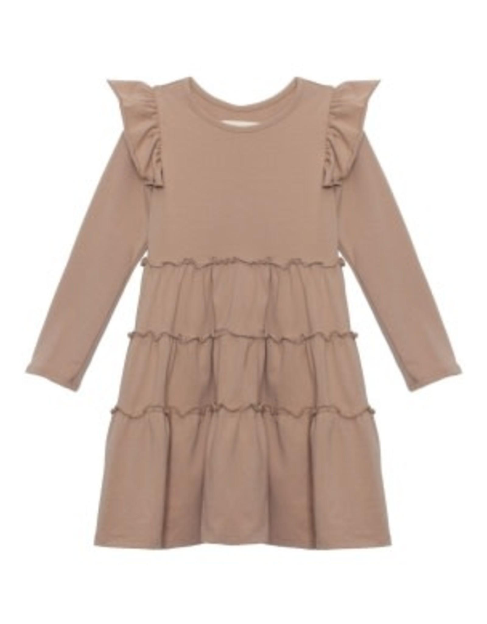 Mabel & Honey Mabel & Honey- LS Brown Knit Dress