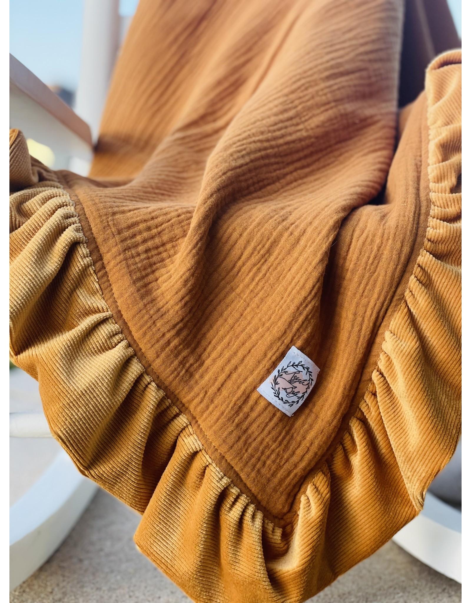 Razzle Baby Razzle Baby- Honey Double Sided Corduroy Trim Blanket