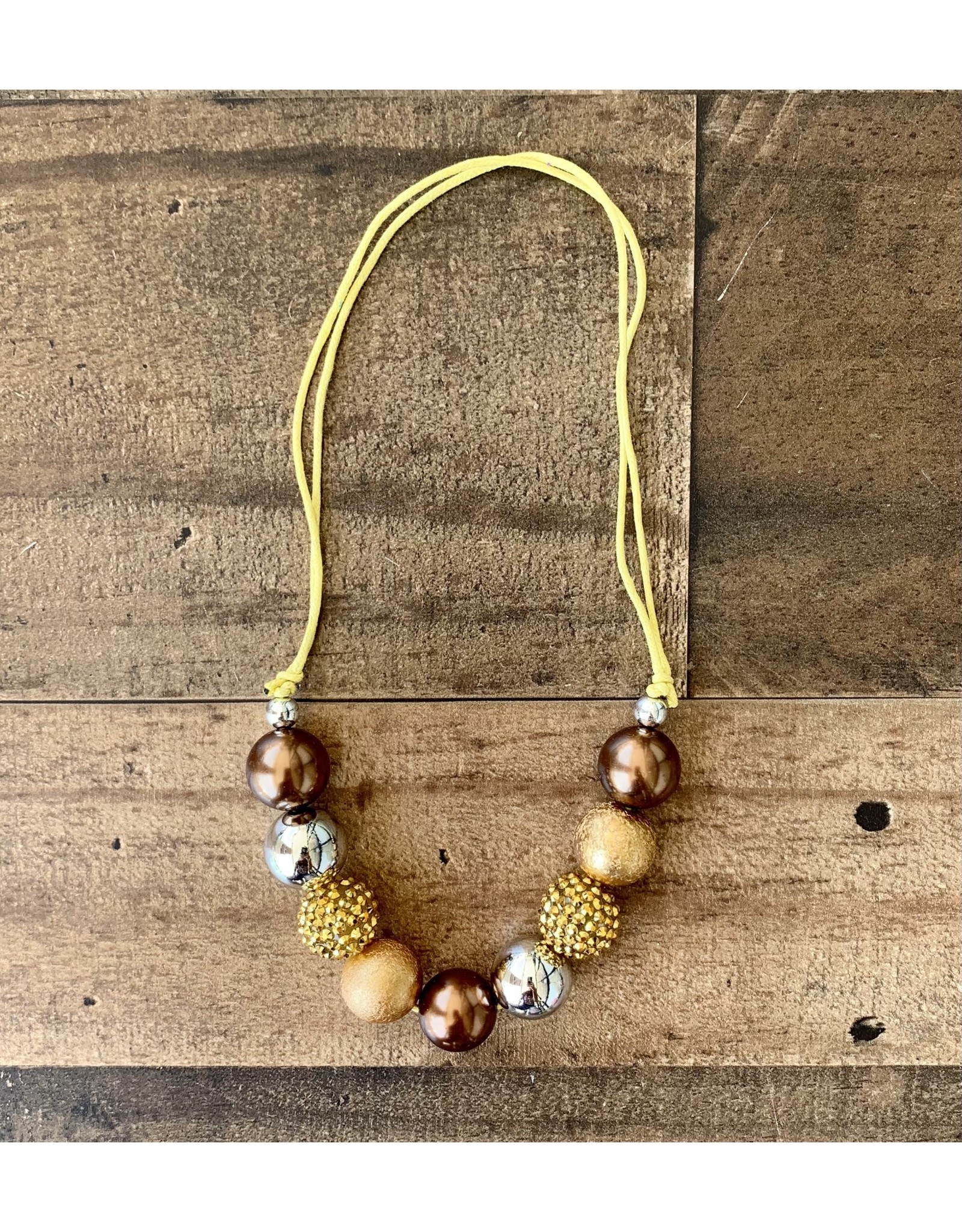 Gold Chunky Adjustable Necklace