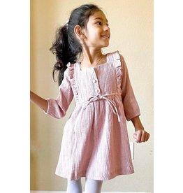 Ren & Rouge Ren & Rouge- Pale Pink Ruffled Gauze Dress
