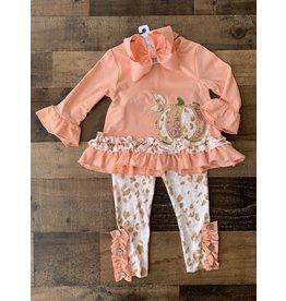 Peach Ruffle Pumpkin Set