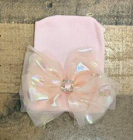 Cradle Cuties- Shine Bow w/ Rhinestone Hat