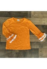 Long Sleeve Ruffle Top w/Lace