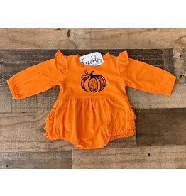 Jade Presley Creations Spider Pumpkin Orange Ruffle Bubble