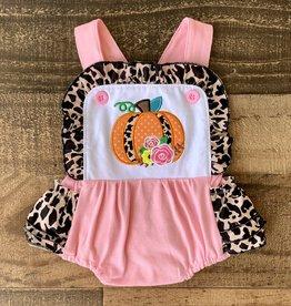 Pink Leopard Pumpkin Romper