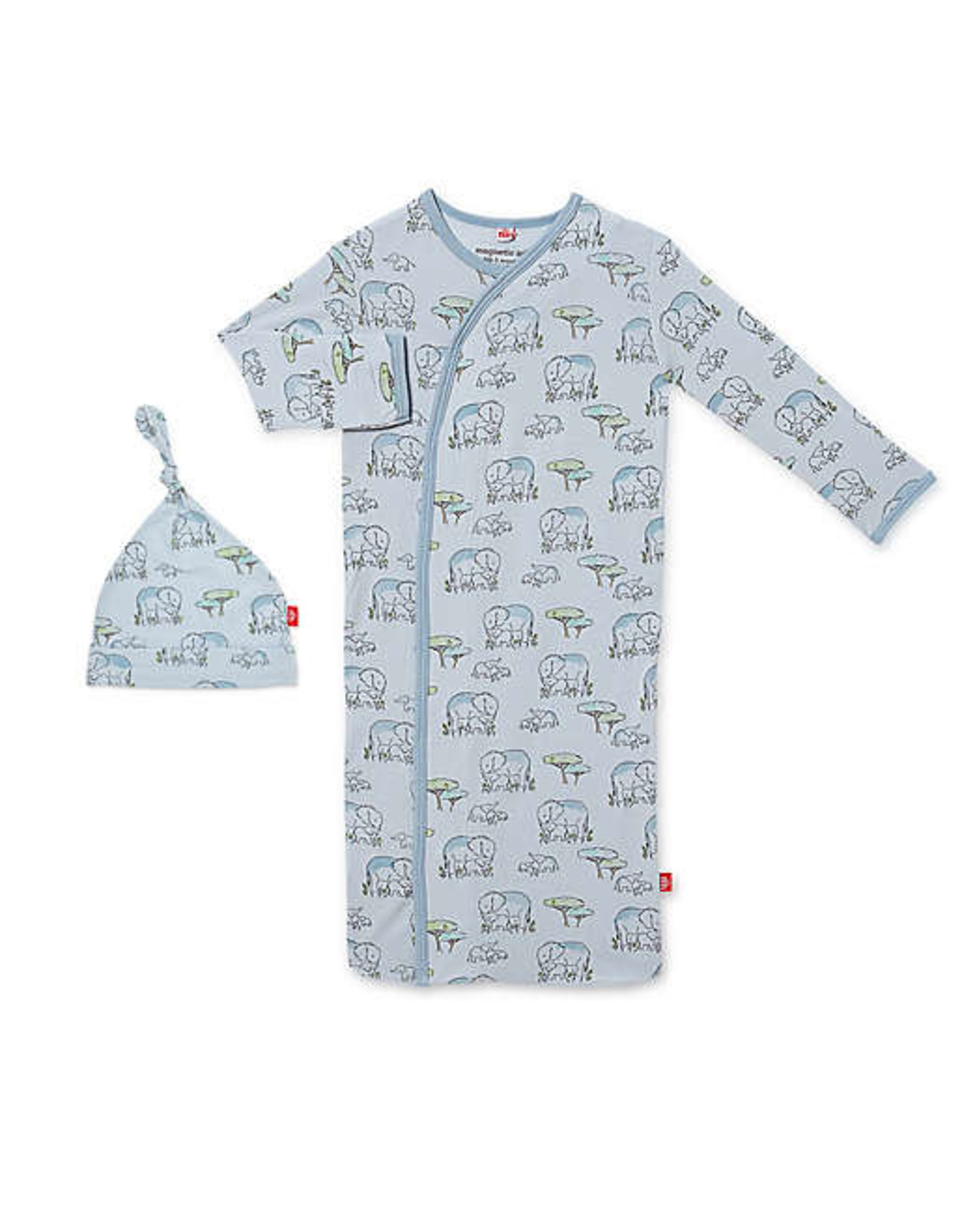 Magnetic Me Magnetic Me- Blue Love You A Ton Modal Magnetic Gown Set (NB-3M)