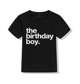 Tiny Trendsetter Tiny Trendsetter- The Birthday Boy Black TShirt