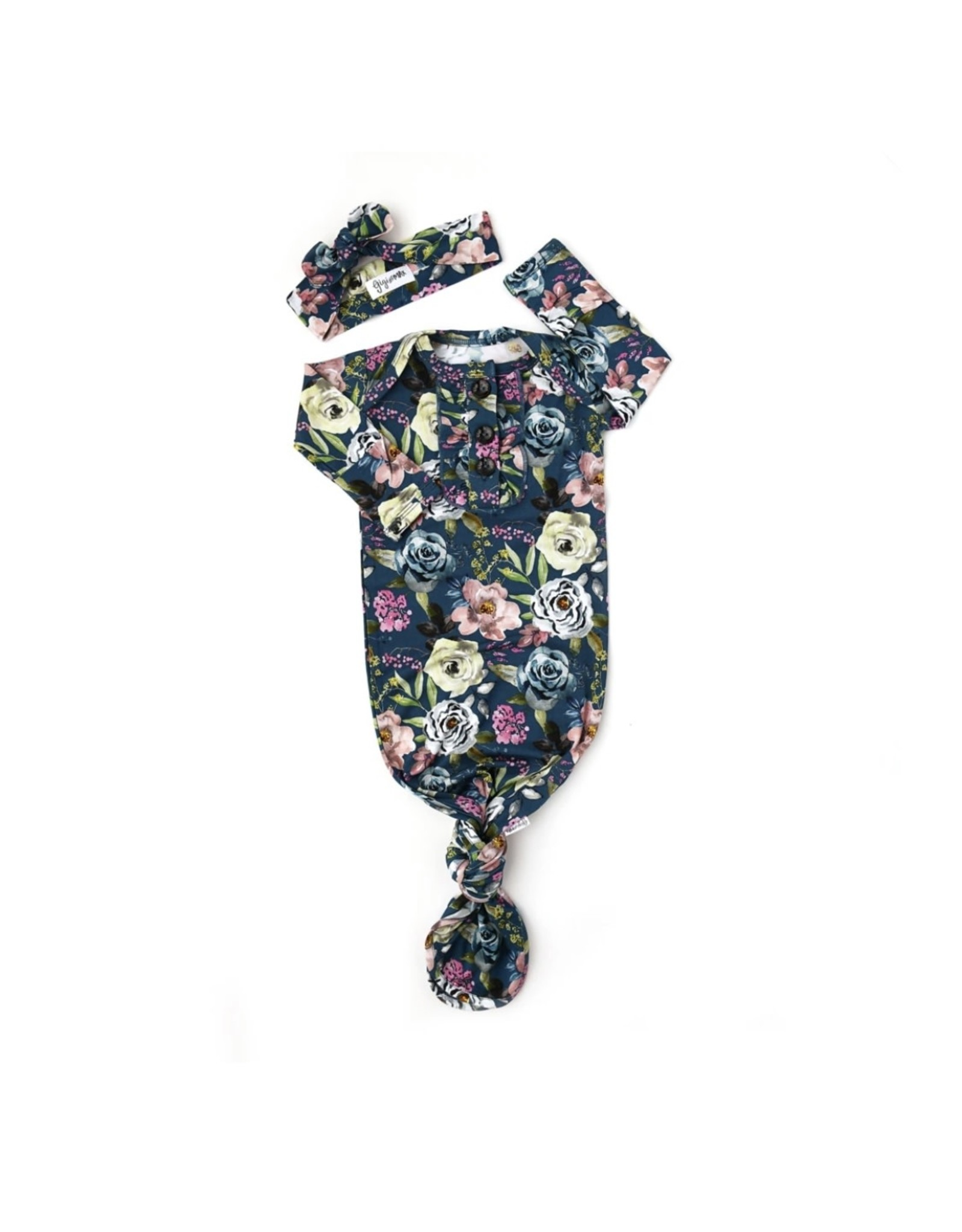 Gigi & Max Gigi & Max- Laken Floral Ruffle Gown & Headband Set