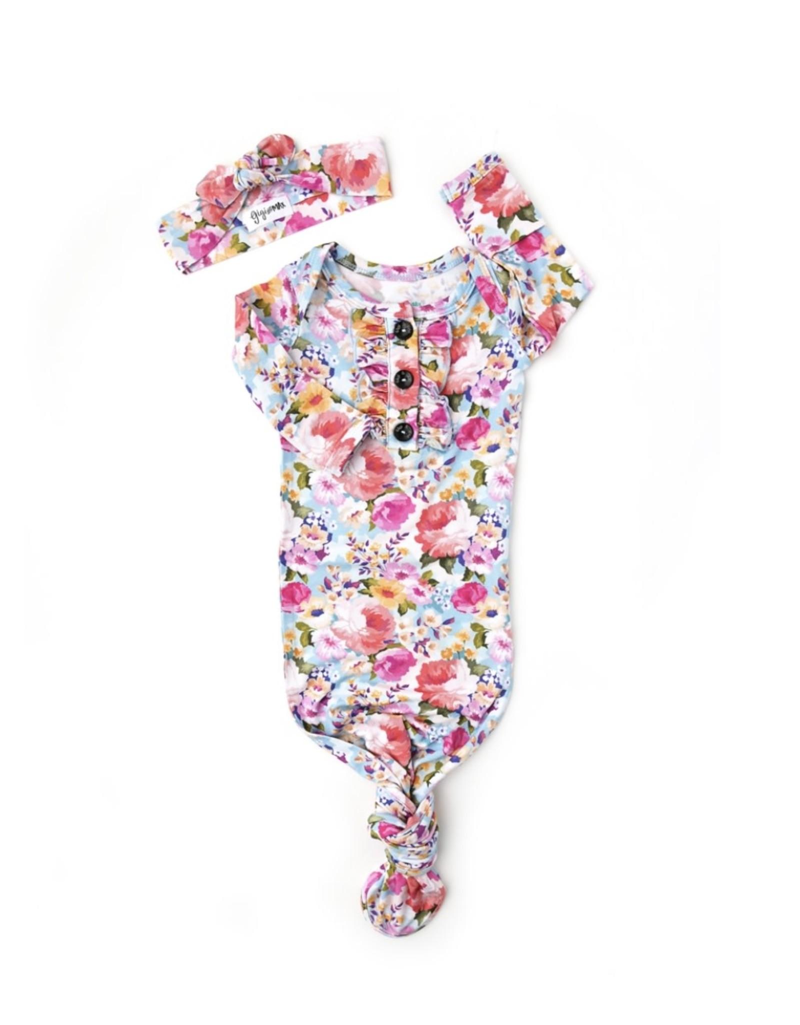 Gigi & Max Gigi & Max- Brooke Floral Ruffle Gown & Headband Set