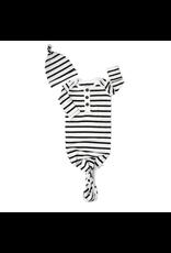 Gigi & Max Gigi & Max- Black & White Stripe Knotted Button Gown w/ Hat