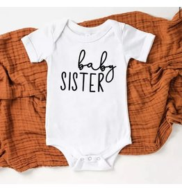 Tiny Trendsetter Tiny Trendsetter- Baby Sister 0-3M Onesie