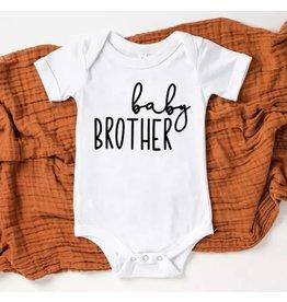 Tiny Trendsetter Tiny Trendsetter- Baby Brother 0-3M Onesie