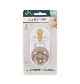 Itzy Ritzy Itzy Ritzy- Itzy Soother: Neutral Natural Pacifier Sets: Coconut & Toast