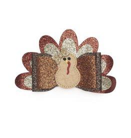 Sweet Wink- Turkey Bow Clip