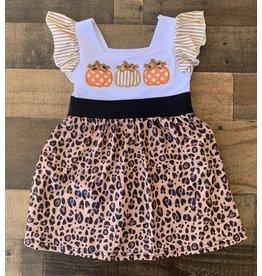 Leopard Embroidery Pumpkin Dress