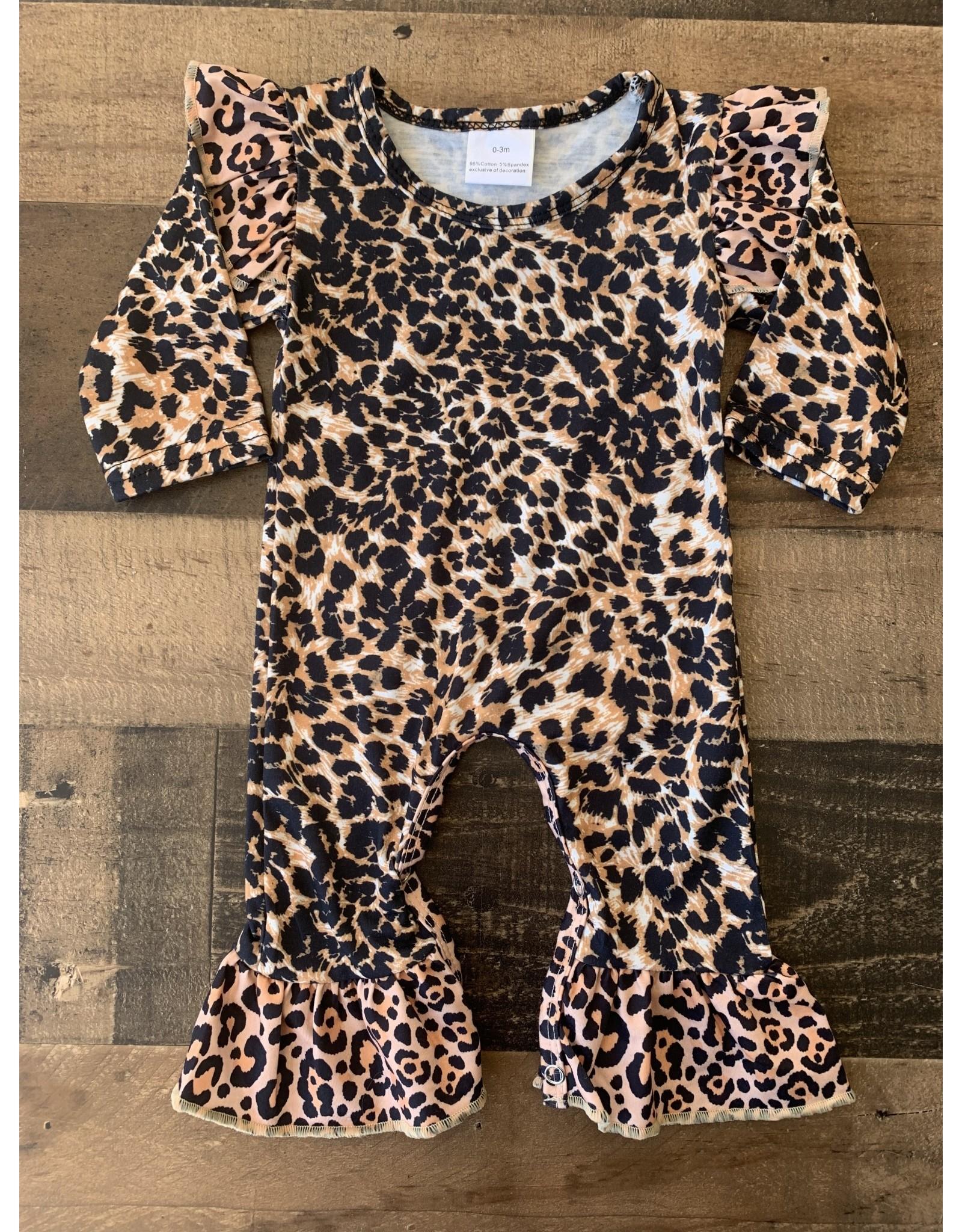 Cheetah Angel Sleeve Romper