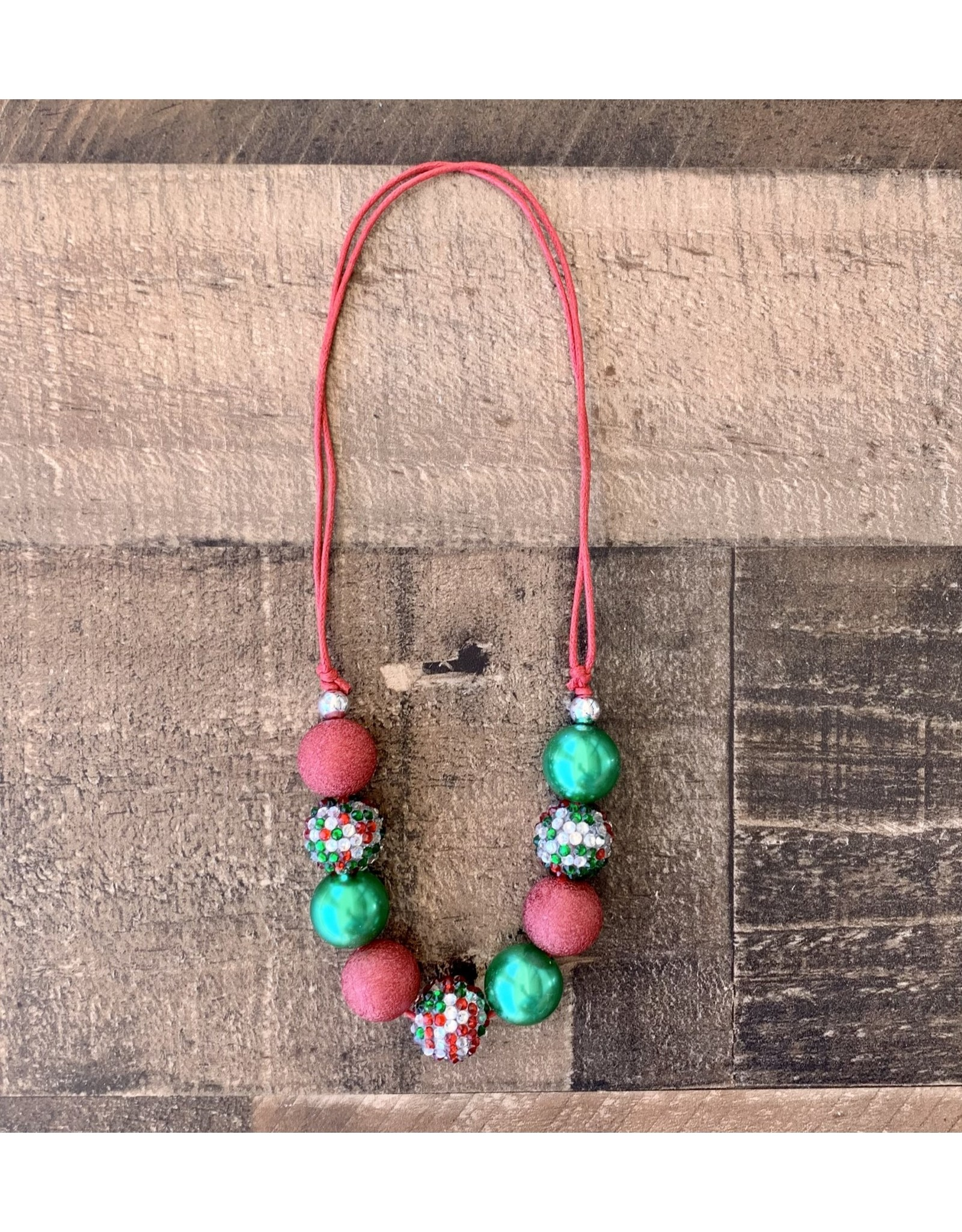 Green & Red Chunky Necklace