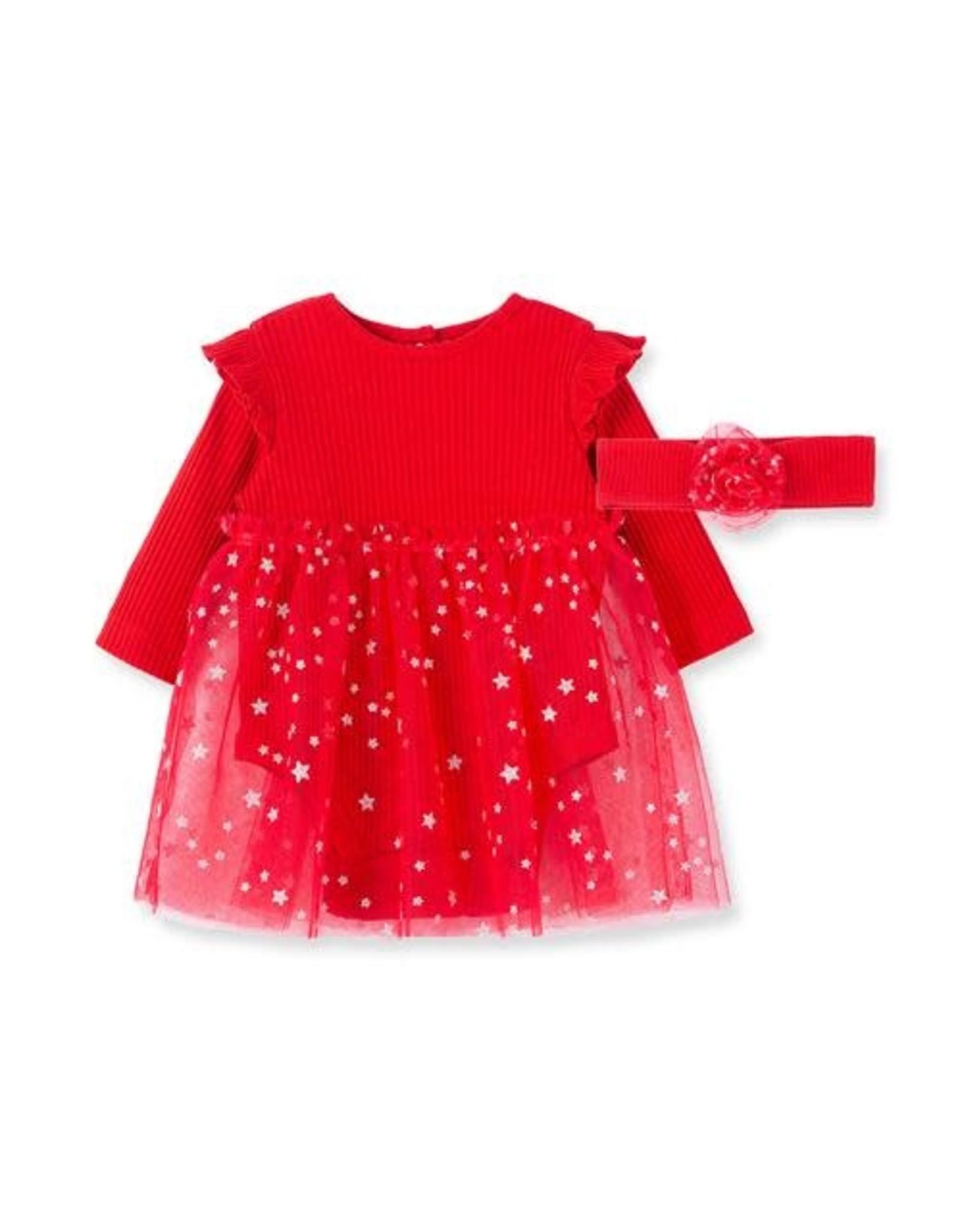 Little Me Little Me- Red Silver Dots Tutu Set