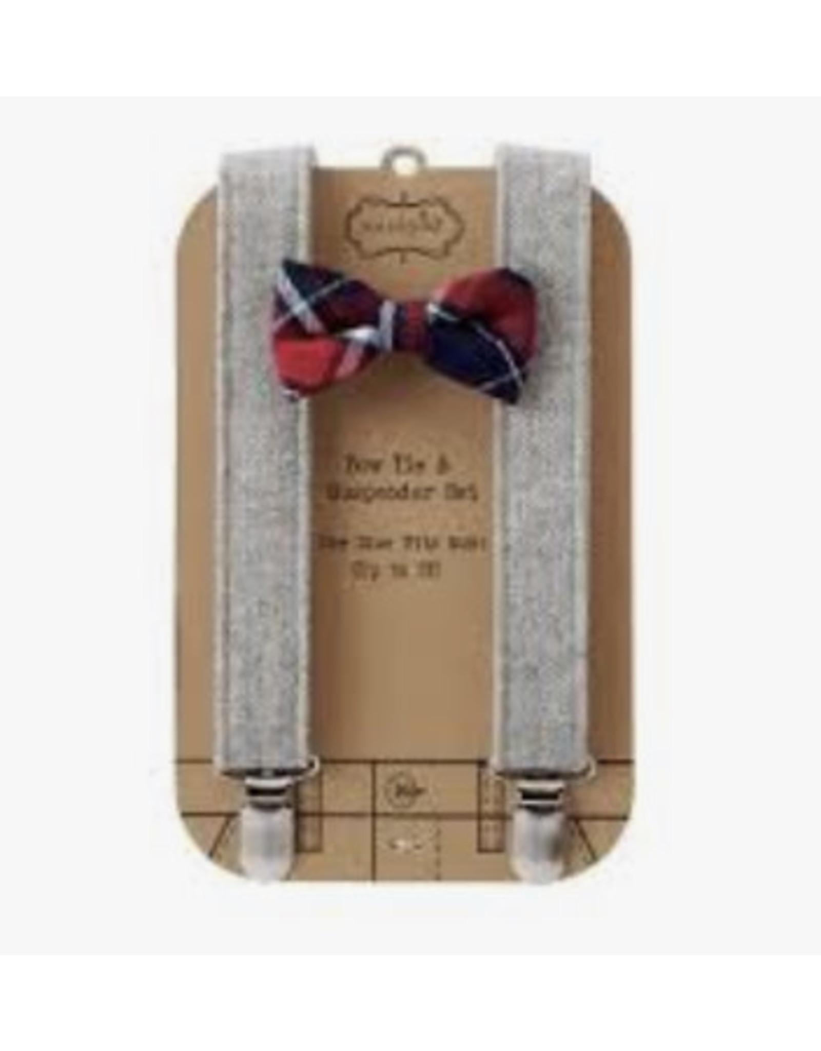 Mudpie Mud Pie- Plaid Check Suspender Set