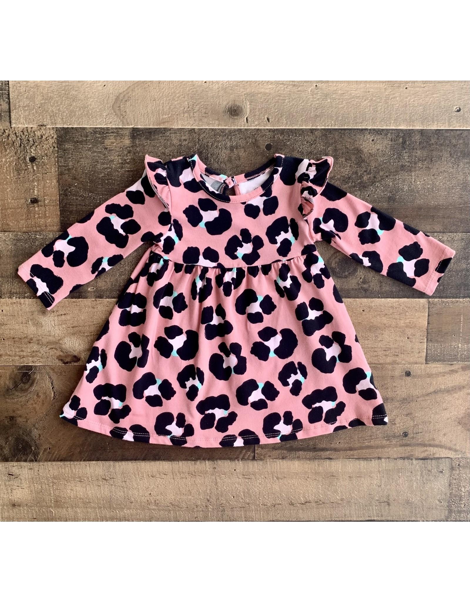 Little Me Little Me- Leopard Knit Dress