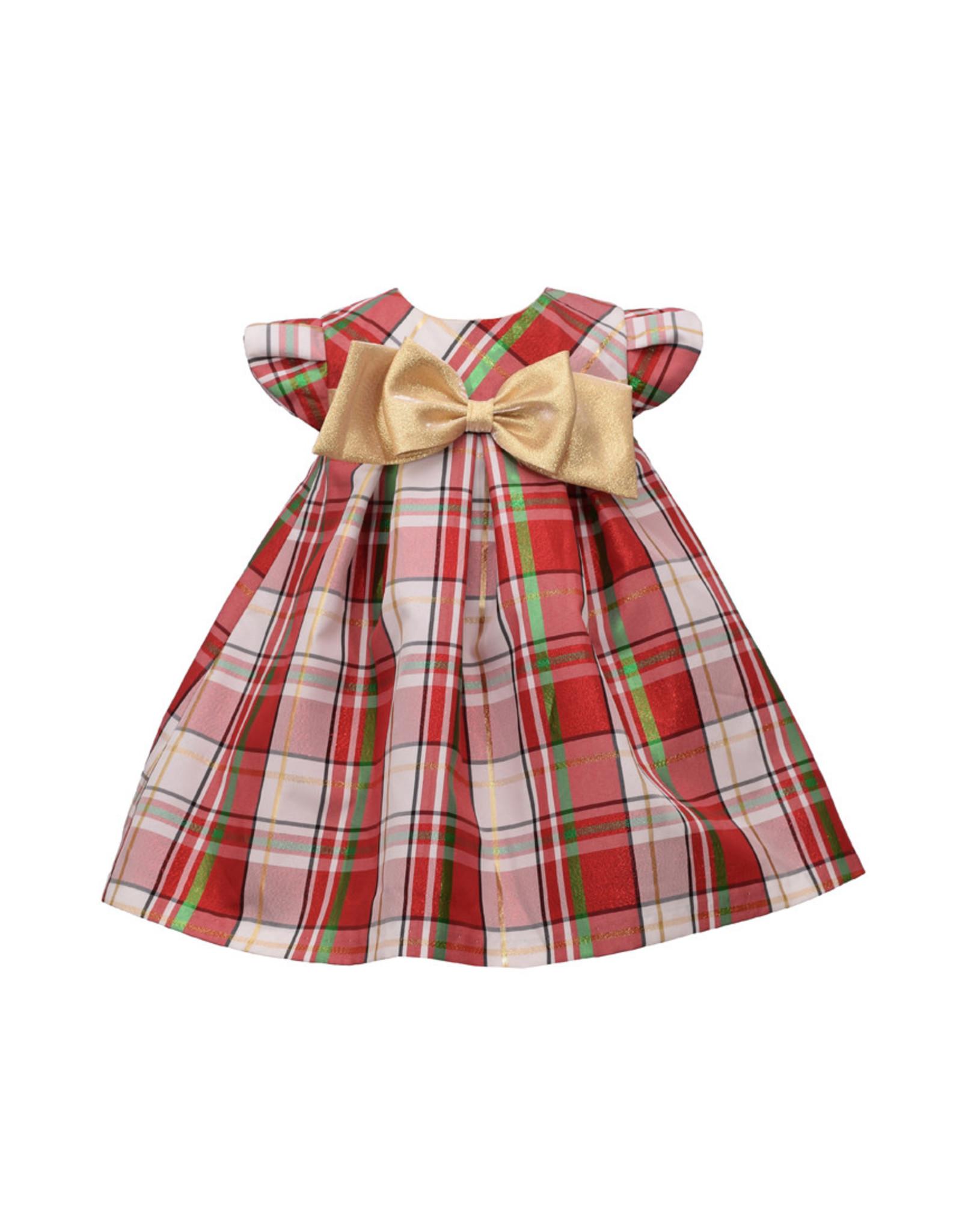 Bonnie  Jean Bonnie Jean- Plaid Taffeta Trapeze Dress