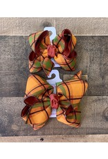 Beyond Creations Beyond Creations- Layered XL Rust/Fall Plaid Knot Bow