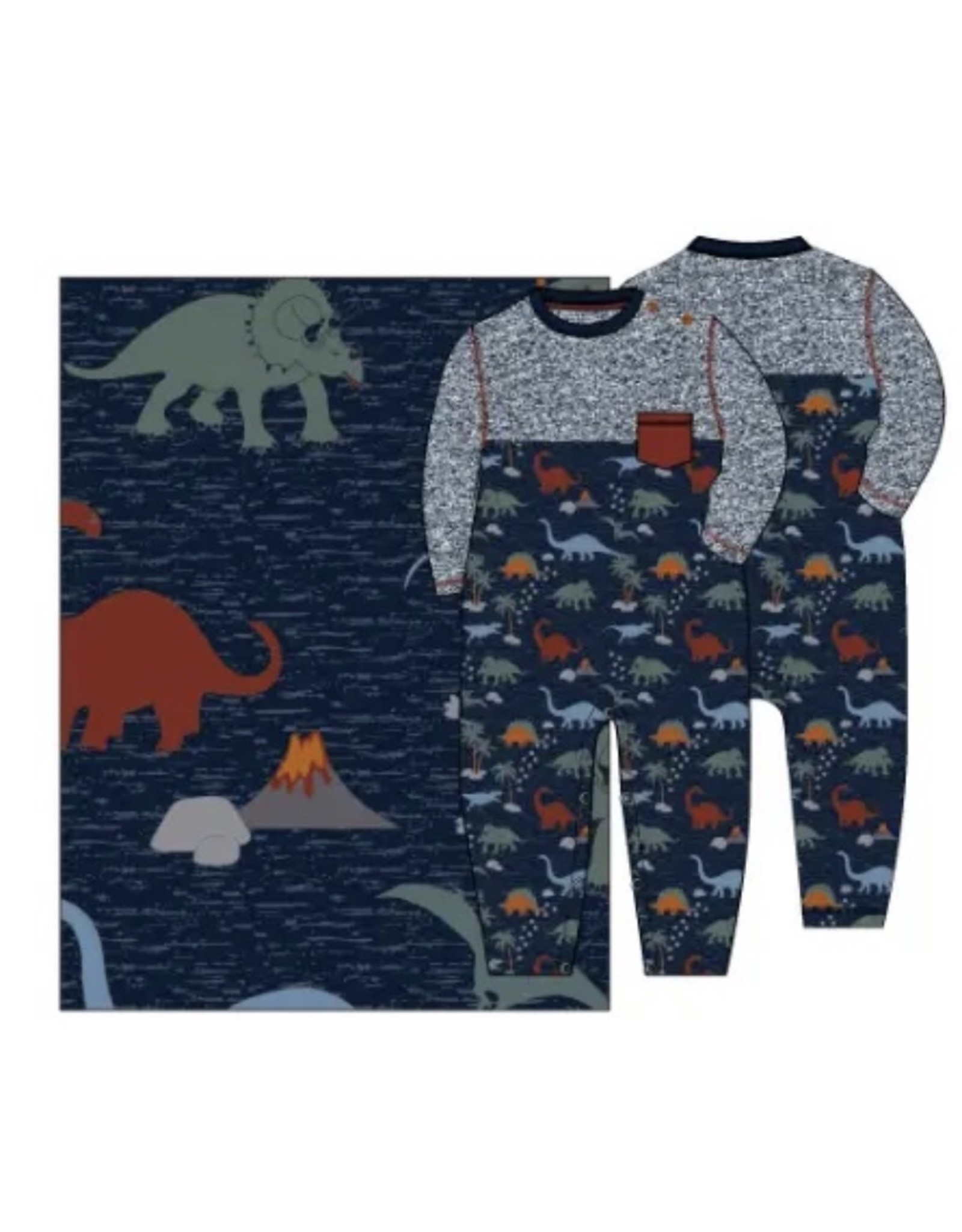 Bear Camp Bear Camp- Dino Pocket Romper