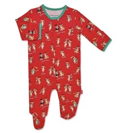 Magnetic Me Magnetic Me- Rollicking Reindeer Holiday Modal Magnetic Footie