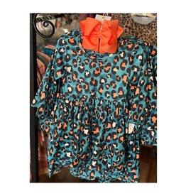 Blue Cheetah Print Dress