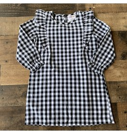 Cartwheels- White/Black Plaid Dress