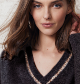 Autumn Cashmere Deep V W/Rings